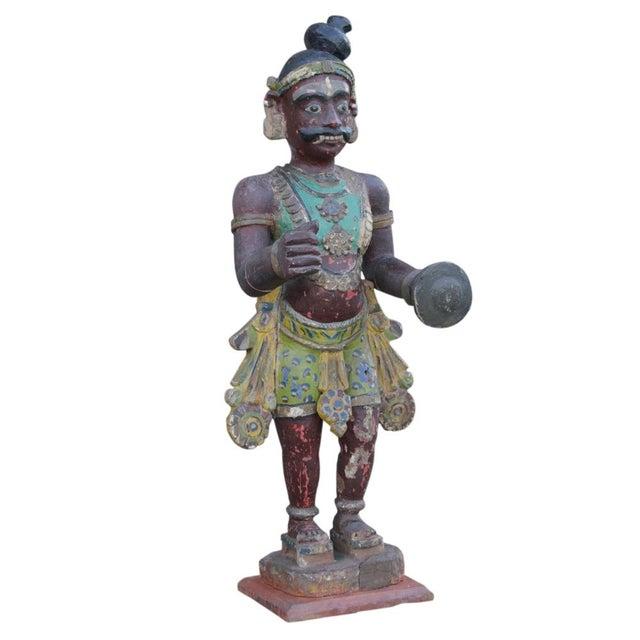 Antique Tribal Warrior Statue - Image 3 of 8