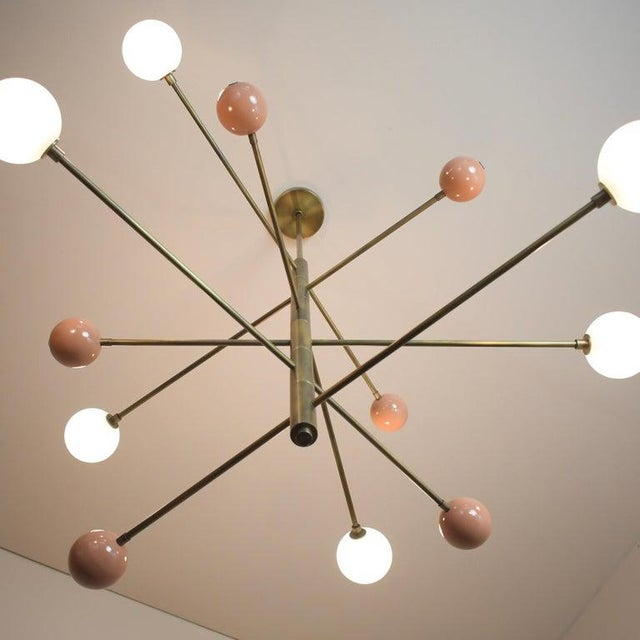 "Mid-Century Modern ""Orbital"" Chandelier by Blueprint Lighting For Sale - Image 3 of 7"
