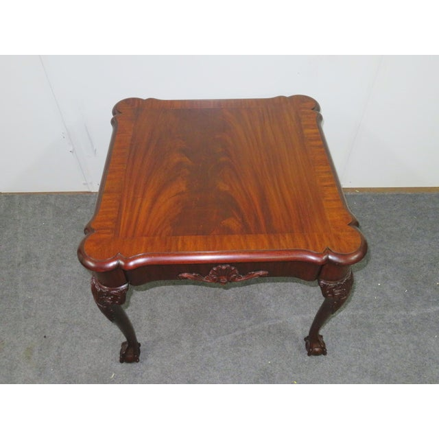 Mid 20th Century Henkel Harris Mahogany Chippendale Carved Side Table For Sale - Image 5 of 8