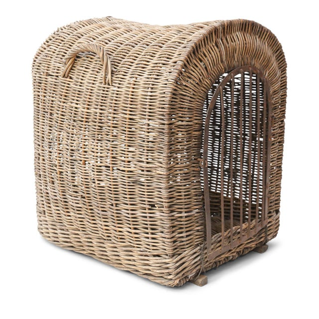 Edwardian English Wicker Dog Kennel For Sale - Image 3 of 13