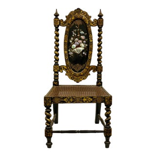 19th-C. English Regency Inlaid Accent Chair For Sale