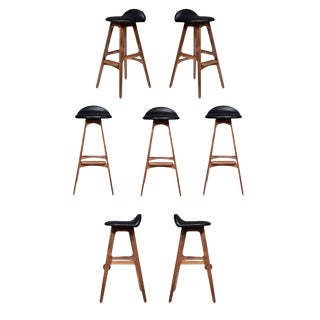 Boyd Walnut Stools - Set of 7 For Sale