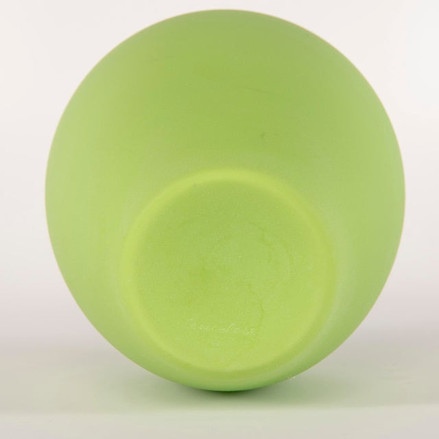 Tall Mid Century Cenedese Murano Glass Green Vase For Sale In Detroit - Image 6 of 8