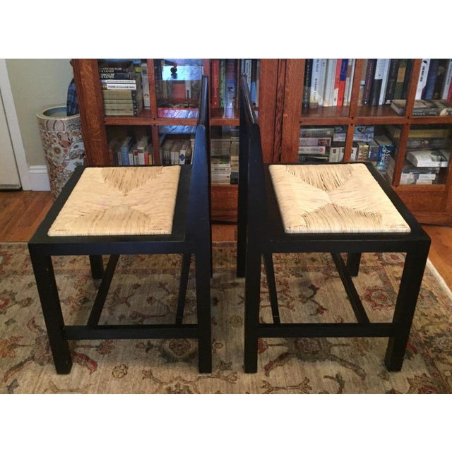 Charles Rennie Mackintosh 1970s Art Nouveau Charles Mackintosh Dining Chairs - a Pair For Sale - Image 4 of 10