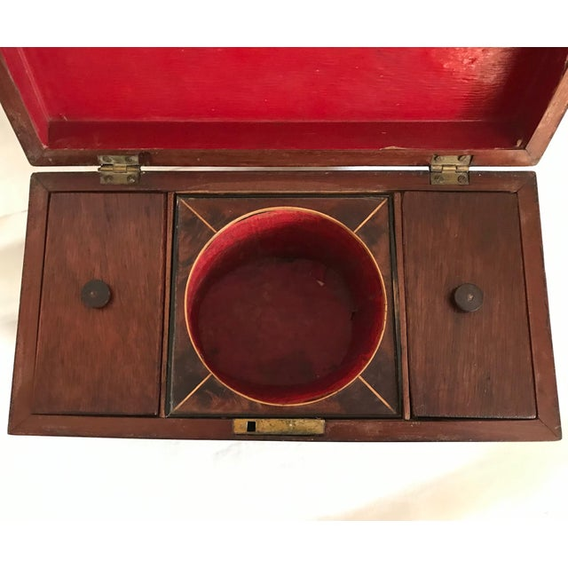 19th Century 19th Century English Rosewood Tea Caddy For Sale - Image 5 of 11