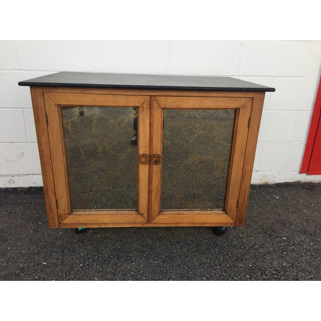 Mid-Century Mobile Rolling Bar Cart For Sale - Image 9 of 9