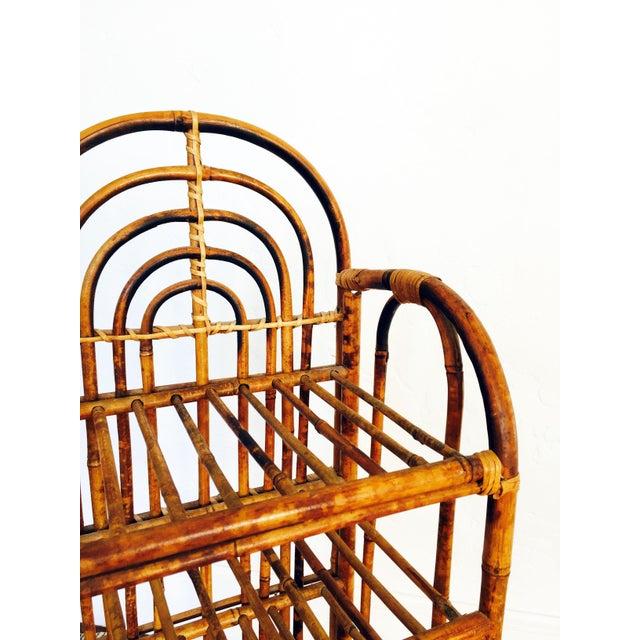 Vintage Bent Bamboo Bookshelf - Image 5 of 6