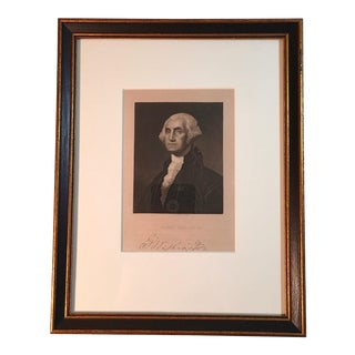 Antique Framed Print of George Washington