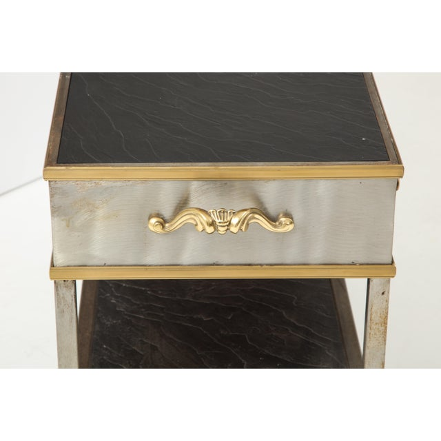 Mid-Century Modern Brass and Steel Console For Sale - Image 3 of 13