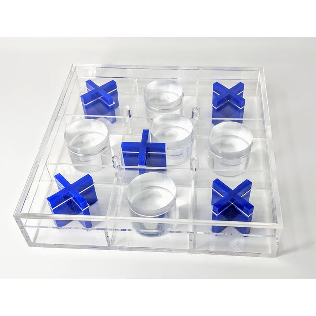 Lucite Tic-Tac-Toe Game Board For Sale In Providence - Image 6 of 13