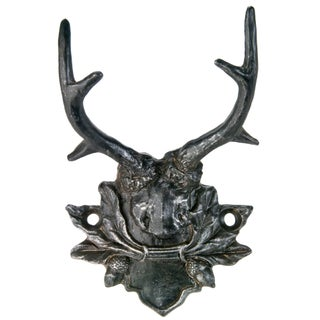Vintage Inspired Antler Mount Wall Hook For Sale