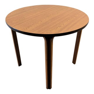 Vintage Thonet Round Bentwood Table For Sale