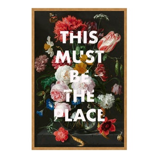 This Must Be The Place by Lara Fowler in Gold Framed Paper, Medium Art Print For Sale
