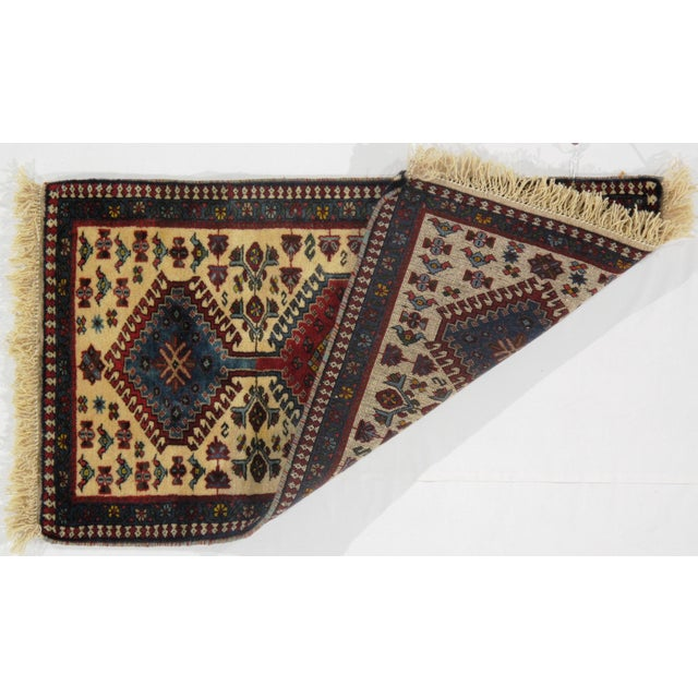 The pile used in Yalameh rugs is very fine, particularly in comparison to other tribal designs, using soft wool based on a...