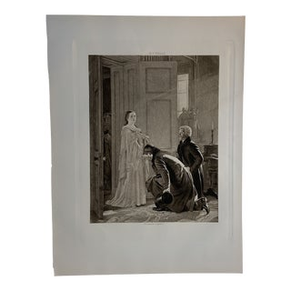 19th Century Engraving of Queen Victoria For Sale