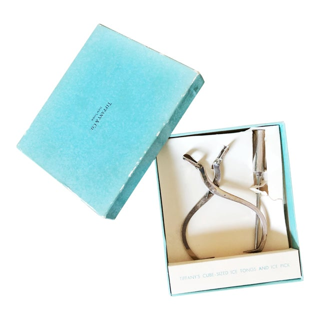 1950s Tiffany & Co Sterling Silver Ice Tongs and Pick - a Pair For Sale