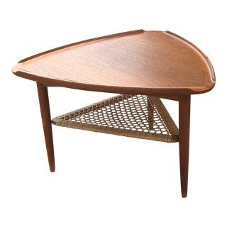 Poul Jensen for Selig Mid-Century Modern Danish Teak Side Table For Sale