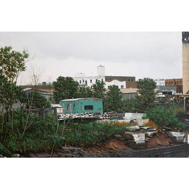 "Oil on Canvas by Randy Dudley Titled ""4th St. Basin - Gowanus Canal"" For Sale - Image 4 of 13"