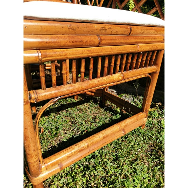 Bamboo Vintage Mid Century Brighton Tiger Bamboo Chairs- A Pair For Sale - Image 7 of 13