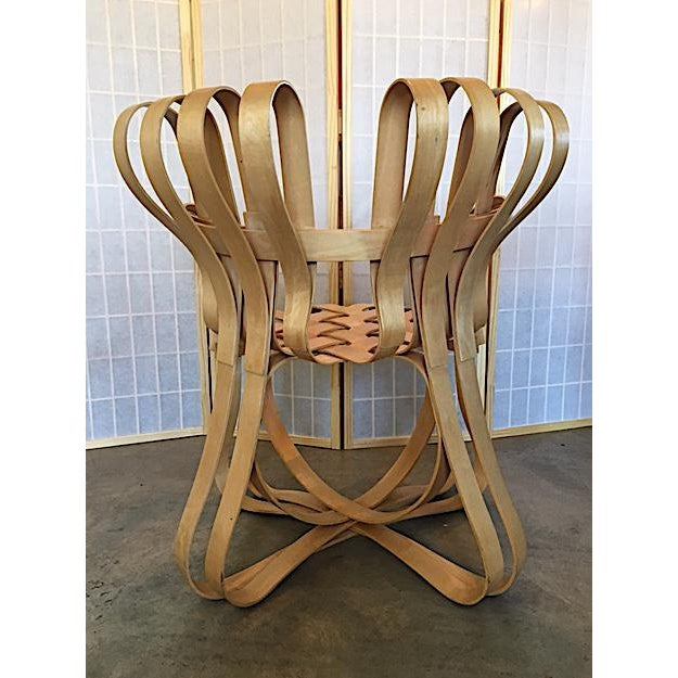 Wood Frank Gehry for Knoll Modern Cross Check Chair For Sale - Image 7 of 11
