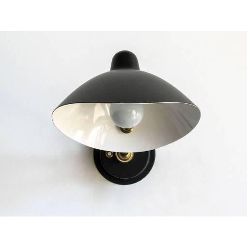 Contemporary Serge Mouille Adjustable Black Metal Wall Light For Sale - Image 3 of 10