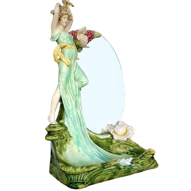 Hans Kieweg Art Nouveau Figural Vanity Mirror for Fraureuth - Image 2 of 10