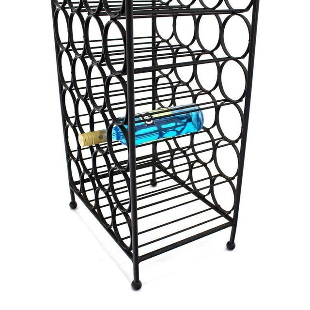 Mid-Century Modern Wrought Iron Wine Rack For Sale - Image 3 of 6