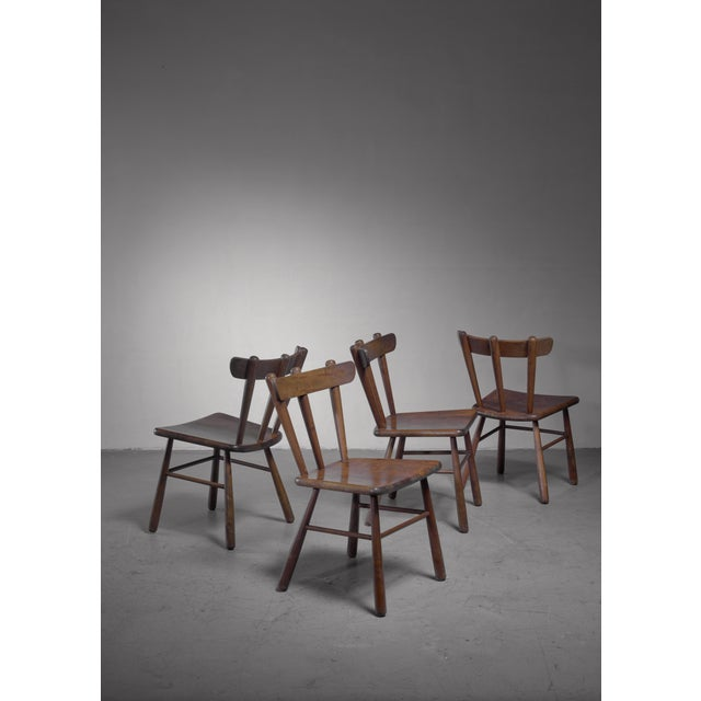 Set of Four Scandinavian Dining Chairs For Sale - Image 6 of 6