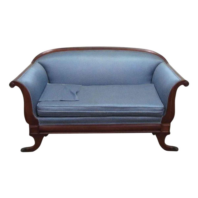 Upholstered Claw Foot Sofa For Sale