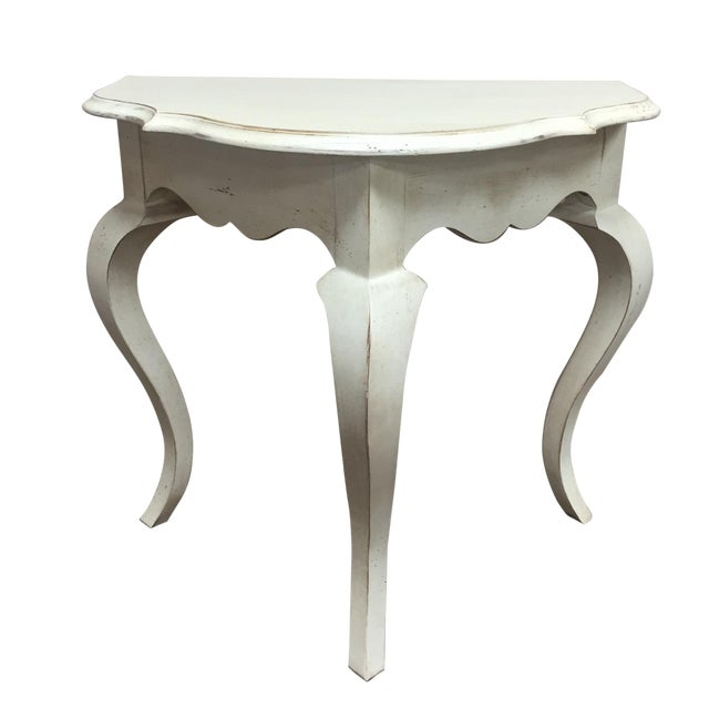 half circle accent table chairish. Black Bedroom Furniture Sets. Home Design Ideas