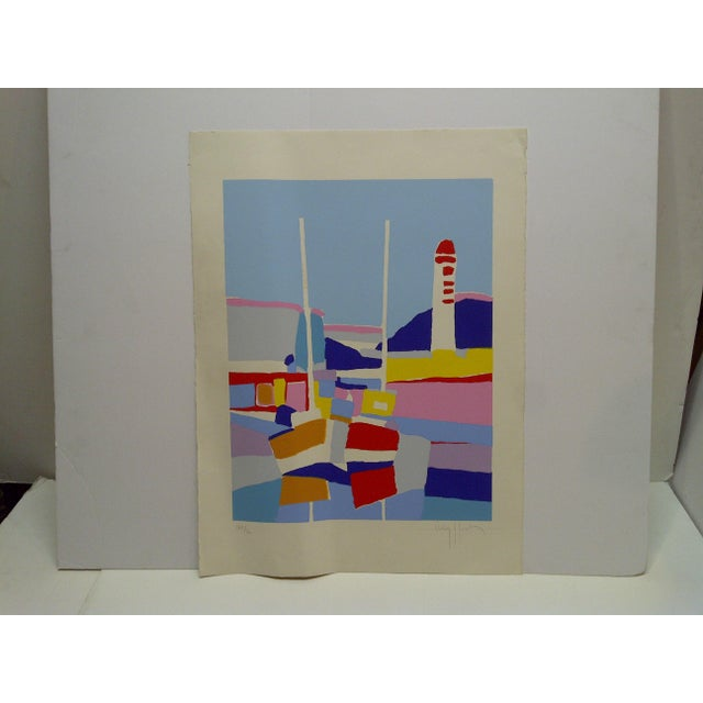 "This is a Limited Edition Signed And Numbered (168/200) French Print that is titled ""De Phare Rouge"" by Hasch."