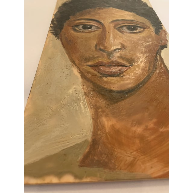Portraiture Portrait of Woman Painting on Wood For Sale - Image 3 of 5
