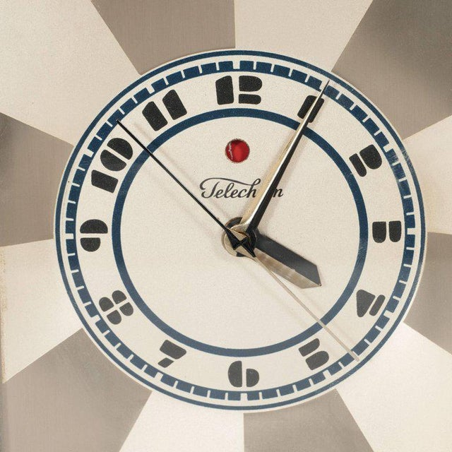 """1920s """"Modernique"""" Clock by Paul Frankl for Warren Telechron Company, circa 1928 For Sale - Image 5 of 9"""