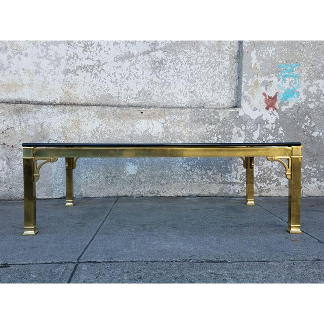 Mastercraft Brass & Glass Vintage Coffee Table - Image 2 of 3