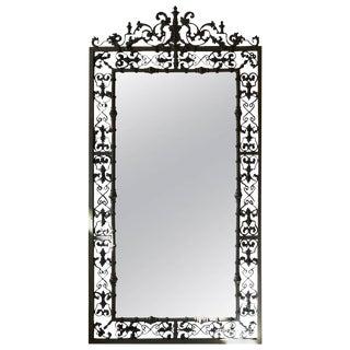 Modern New Orleans Style Verdigris Mirror For Sale