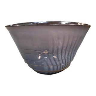 1980s Mark Rosenbaum Art Glass Centerpiece Bowl For Sale