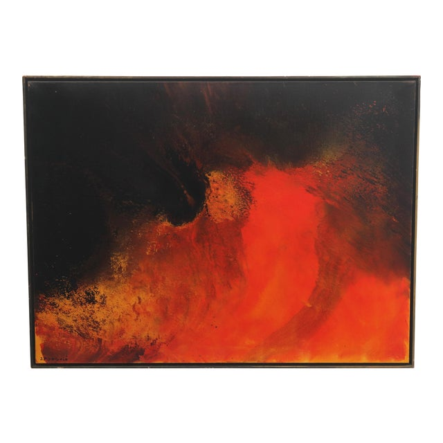 1960s Vintage John Popovic Abstract Painting For Sale