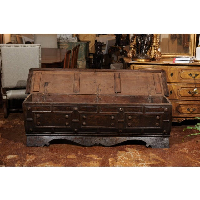 Early 18th Century Italian Hand-Carved Walnut Cassone Chest from Siena For Sale In Atlanta - Image 6 of 10