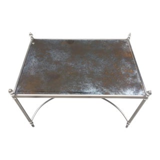 Vintage Silvered Metal Low Table For Sale