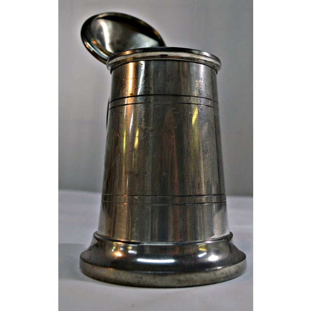 English Pewter Clear Bottom Beer Tankard Mug - Image 4 of 7