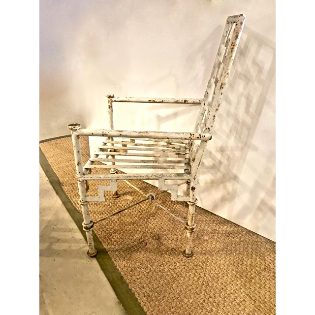 Art Deco Iron Patio Chairs - a Pair For Sale - Image 4 of 9