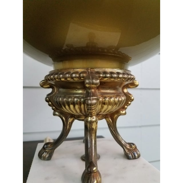 Mid-Century Modern 1950s Mid-Century Modern Gold Glass Globe Lamps - a Pair For Sale - Image 3 of 11