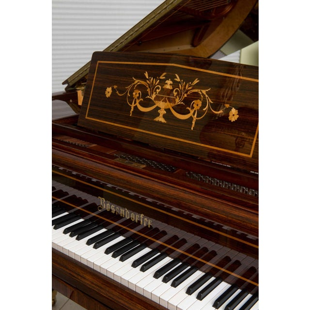 Rare and Historically Significant Marquetry Inlaid Grand Piano, Bösendorfer For Sale - Image 4 of 8