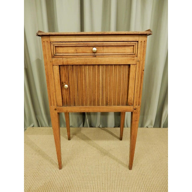 French Early 19th C. French Walnut Side Table For Sale - Image 3 of 9