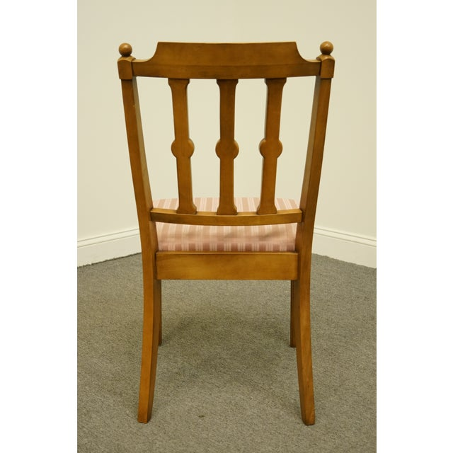 Wood Vintage Century Furniture Italian Inspired Dining Side Chair For Sale - Image 7 of 9