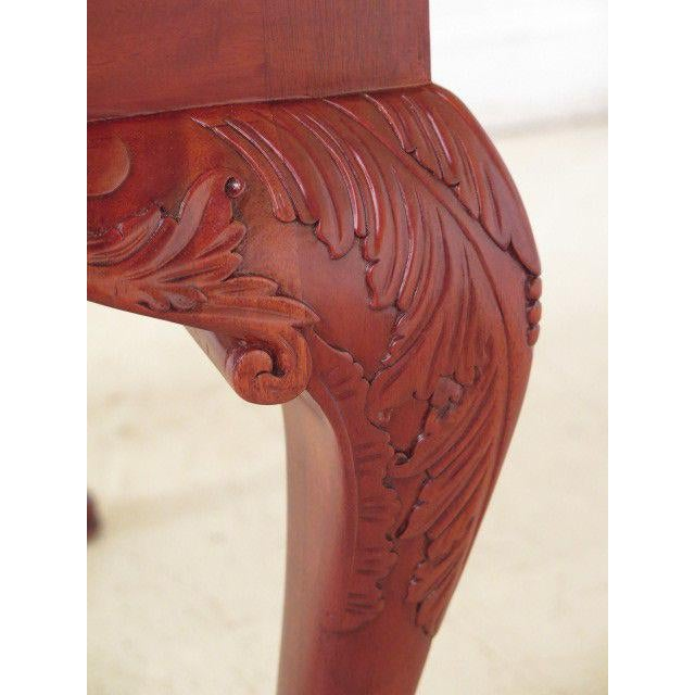 Brown 21st Century Georgian Mahogany Dining or Occasional Side Chairs- A Pair For Sale - Image 8 of 10