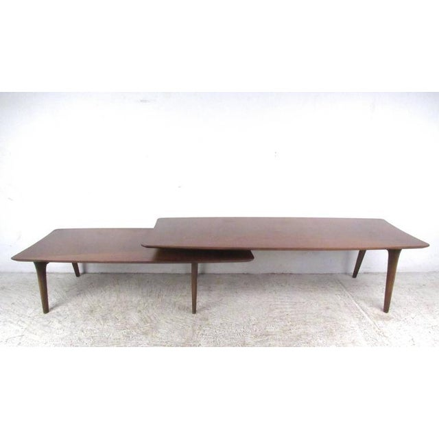 Vintage Modern Two-Tier Pivot Coffee Table For Sale In New York - Image 6 of 11