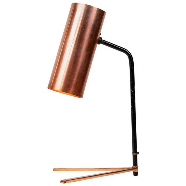 1950s Stilux Copper and Metal Table Lamp For Sale - Image 13 of 13