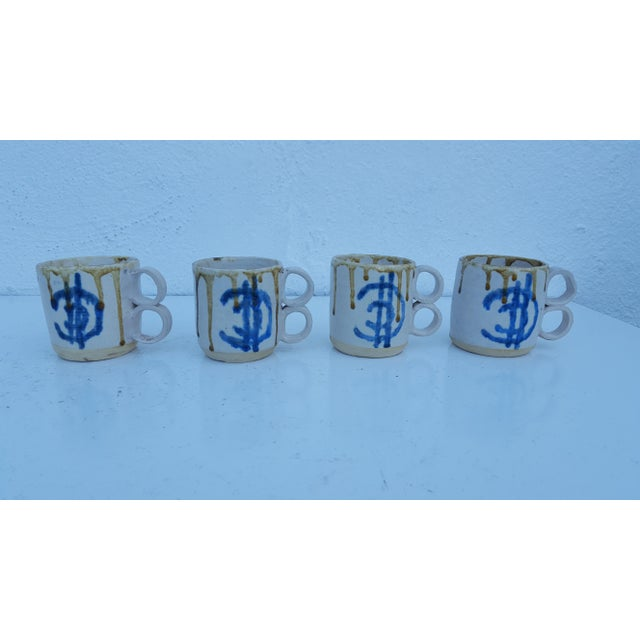 Mid-Century Modern 1975 Blackwell Hand Thrown Coffee Mugs - Set of 4 For Sale - Image 3 of 7