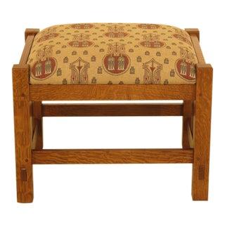 Modern Stickley Mission Oak Arts & Crafts Footstool For Sale